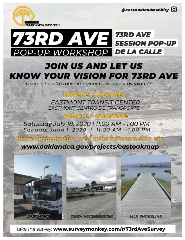 73rd Ave Pop-up Workshop