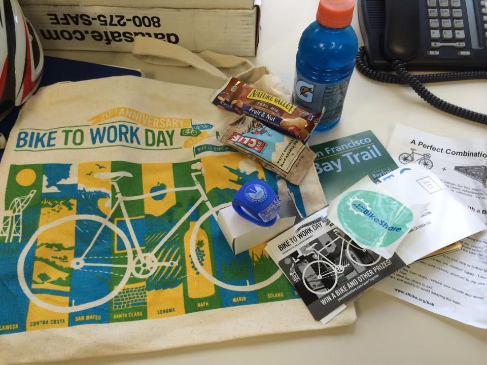 bike to work day goodies bag