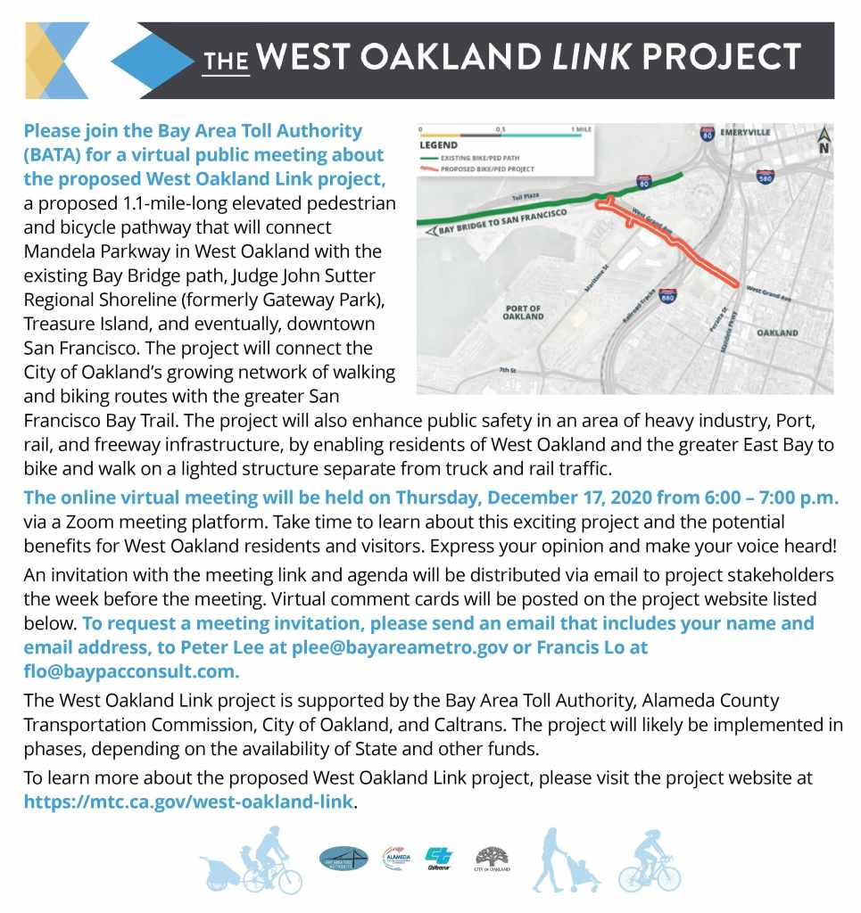 West Oakland Link - Project newspaper ad