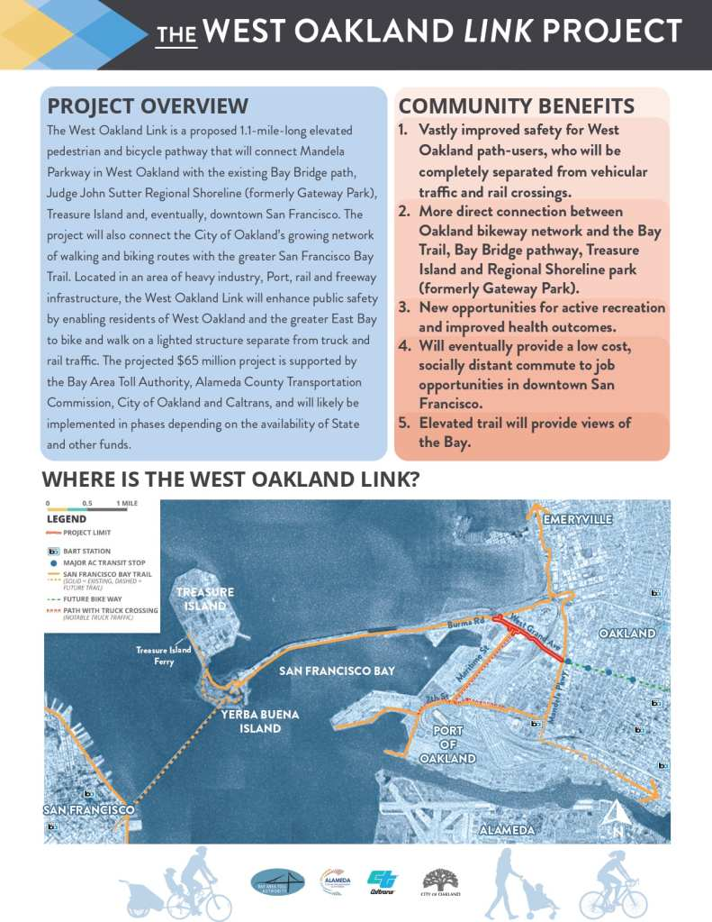 West Oakland Link - Project Factsheet page 1