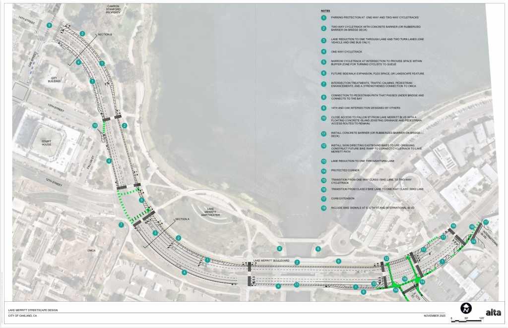 concept plan for Lake Merritt Blvd