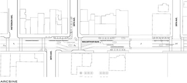 plan view of the proposed road diet